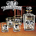 Three Stooges Five-Piece Bar Set Featuring The Stooges' Larry, Moe And Curly With Replica Autographs