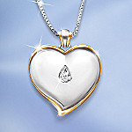 Loving Tribute Personalized Heart-Shaped Pendant Necklace: Bereavement Gift