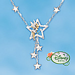Disney's Tinker Bell Wishes Engraved Crystal Star Necklace: Tinker Bell Jewelry