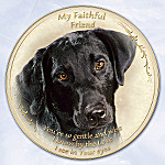 Black Lab Faithful Friend Collector Plate