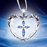 Blessing For A Daughter Crystal Heart Pendant Necklace: Jewelry Gift For Daughter