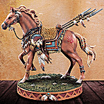 Sacred Courage Native American-Inspired Horse Figurine: Horse-Themed Home Decor