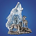 Silver Sentinels Wolf Figurine