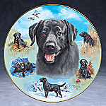 Linda Picken Black Labs Best Buddy Collector Plate