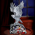 Liberty Soars Eagle And Chopper Sculpture