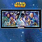 Star Wars Stained-Glass Panorama Wall Decor Art