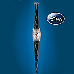 Disney Mickey Mouse Watch With Interchangeable Leather Watchbands: Mickey Now & Then