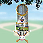 The 2009 MLB World Series Champions New York Yankees Trophy Christmas Ornament