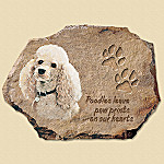 Pollyanna Pickering Poodles Leave Paw Prints On Our Hearts Collector Plate