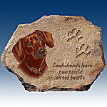 Linda Picken Dachshunds Leave Paw Prints On Our Hearts Collector Plate