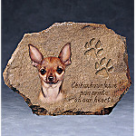 Peggy Krizak Chihuahua's Leave Paw Prints On Our Hearts Collector Plate