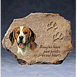 Linda Picken Beagles Leave Paw Prints On Our Hearts Collector Plate