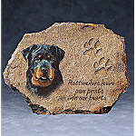 Linda Picken Rottweilers Leave Paw Prints On Our Hearts Collector Plate