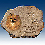 Linda Picken Pomeranians Leave Paw Prints On Our Hearts Collector Plate