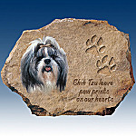 Linda Picken Shih Tzus Leave Paw Prints On Our Hearts Collector Plate