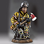 Against The Flames Collectible Firefighter Tribute Sculpture