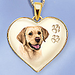 Keepsake Yellow Lab Dog Pendant