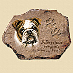 Linda Picken Bulldogs Leave Paw Prints On Our Hearts Collector Plate