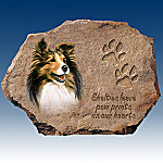Linda Picken Shelties Leave Paw Prints On Our Hearts Collector Plate