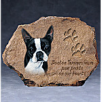 Pollyanna Pickering Boston Terriers Leave Paw Prints On Our Hearts Collector Plate