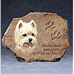 Linda Picken Westies Leave Paw Prints On Our Hearts Collector Plate