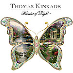 Thomas Kinkade Garden Of Prayer Porcelain Butterfly Collector Plate