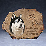Linda Picken Siberian Huskies Leave Paw Prints On Our Hearts Collector Plate