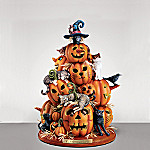 Cat-o-Lantern Illuminated Halloween Cats Figurine