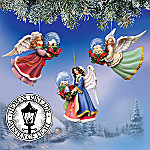 Thomas Kinkade Water Globe Village Angel Ornaments