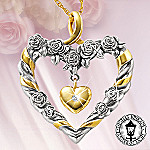 Thomas Kinkade Always In My Heart Diamond Pendant Necklace