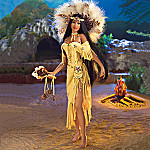 Healing Crystals Of The Medicine Woman Collectible Porcelain Doll