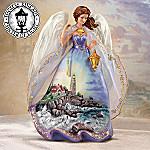 Thomas Kinkade Clearing Storms Angel Figurine