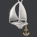 Serenity Sterling Silver Sailboat Pendant