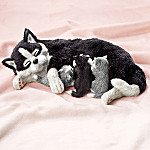 Snuggle Time Lifelike Cat And Kitten Plush Animals
