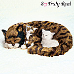 Lifelike Calico Cat And Kittens Plush Calico Comfort
