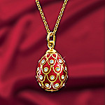 Imperial Russian Egg Pendant