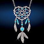 Native American Style Heart Pendant