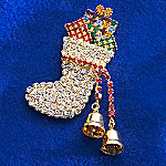 Thomas Kinkade Christmas Stocking Pin