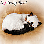 Lifelike Siamese Pet Cat Plush