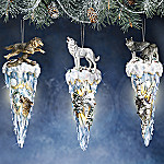 Majestic Wolves Of Winter Collectible Christmas Tree Wolf Ornament Collection: Set One