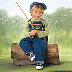 Julie Fischer Little Fishin' Buddy Collectible Lifelike Doll