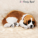 Lifelike St. Bernard Puppy Dog Plush