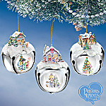 Precious Moments Sleigh Bells Christmas Tree Ornaments: Set One