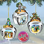 Collectible Wizard Of Oz Sleigh Bells Christmas Tree Ornaments: Set One