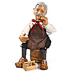 Gepetto Wooden Doll From The Story Of Pinocchio
