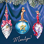 Marvelous Marilyn Monroe Portrait Collectible Ornaments: Set One