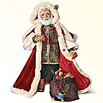 Wooden St. Nicholas Doll: Santa Decoration