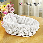 So Truly Real Baby Doll Accessories: Wicker Bassinet With White Liner/Pillow