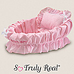 So Truly Real Baby Doll Accessories: Wicker Bassinet With Pink Liner/Pillow