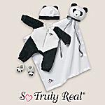So Truly Real Baby Doll Clothing: Panda Sleeper Set